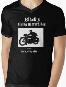 Black's Flying Motorbikes Mens V-Neck T-Shirt