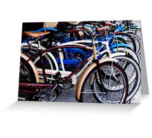 Pedaling in Vintage Time Greeting Card