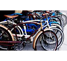 Pedaling in Vintage Time Photographic Print
