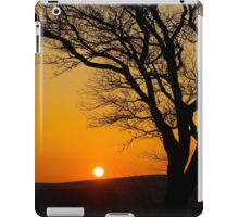 Sunset Silhouette In Derbyshire iPad Case/Skin