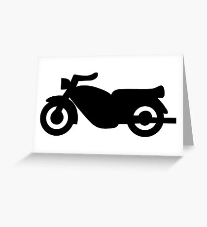 Motorcycle Icon - Black Greeting Card