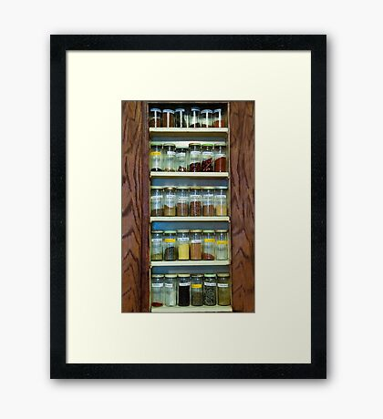 My Spice Cabinet Framed Print