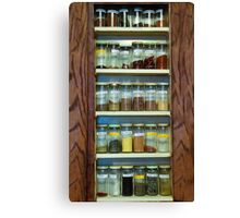 My Spice Cabinet Canvas Print