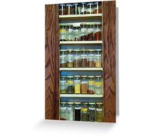 My Spice Cabinet Greeting Card