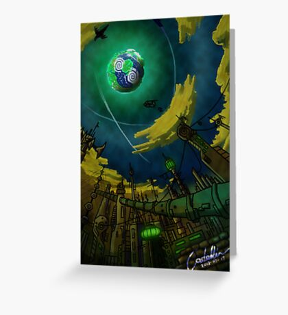 Alien World Concept Greeting Card