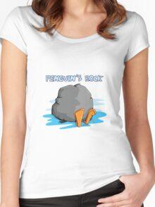Penguin's Rock! Women's Fitted Scoop T-Shirt