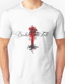 Broken by the Fall blk and red tree design Unisex T-Shirt