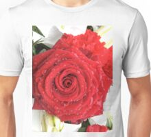 Beautiful red rose Unisex T-Shirt