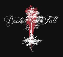 Broken by the Fall white and red tree design Kids Tee