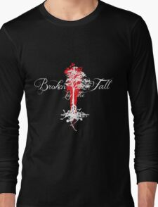 Broken by the Fall white and red tree design Long Sleeve T-Shirt