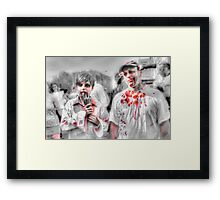 Father & Son Zombies Framed Print