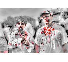 Father & Son Zombies Photographic Print