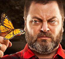 Offerman & Butterfly by mermishh