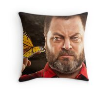Offerman & Butterfly Throw Pillow