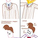Three Bowties (poster) by HairandGlasses