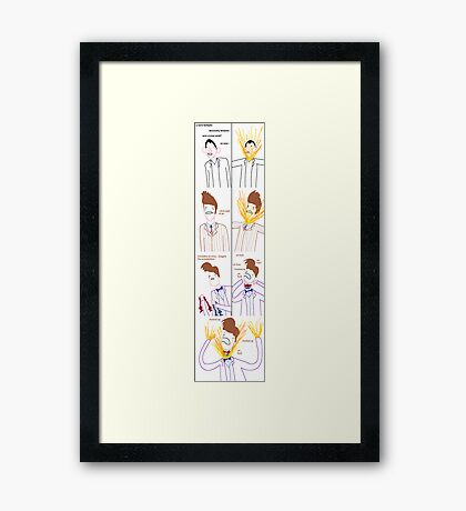 Three Bowties (poster) Framed Print