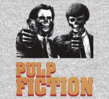 Pulp Fiction : vincent and  jules skull with logo by SpaceRedShirt