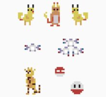 Mini Pixel Kanto Electric Types - Set of 8 by pixelatedcowboy