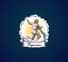 Aquarius Zodiac Astrology iPhone, iPod Case Fade to Black, Super Lush by velvetlapin