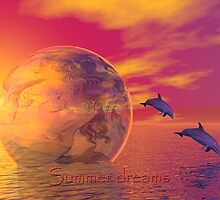 Mermaid in a Bubble (Summer dreams) Text card by walstraasart