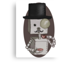 Gentleman bot Canvas Print