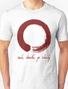 Large red enso with text T-Shirt