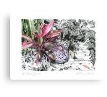 A Potter's Garden (No.5) Canvas Print