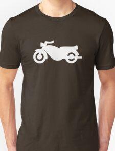 Motorcycle Icon - White Unisex T-Shirt