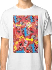 Dominos Abstract with Red Classic T-Shirt