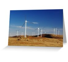 More energy from the wind Greeting Card