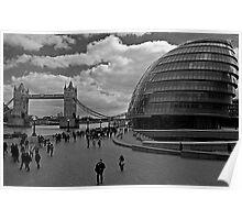 Tower Bridge & City Hall, London Poster