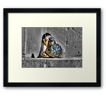 Pigeon Chilling in Malta Framed Print