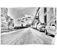 Streets of Malta in Black & White Poster