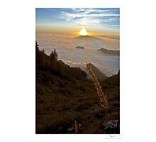 sunset in grigna Photographic Print