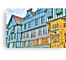 Colourful Old Buildings in Central London, UK Canvas Print
