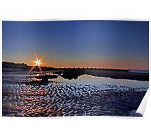 Sun Setting at Walcott Beach Poster