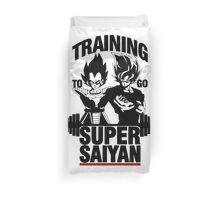 Training to go Super Saiyan Duvet Cover