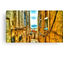 Streets of Gibraltar Canvas Print