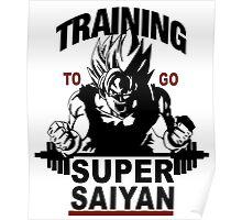 Training to go Super Saiyan Poster