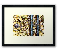 Cogs #4 - Watercolour Framed Print