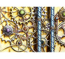 Cogs #4 - Watercolour Photographic Print