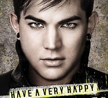 CUSTOMISABLE Adam Lambert (Trespassing): Happy Birthday by Eleclya