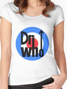 Dr Who Target (with arrow) Women's Fitted Scoop T-Shirt