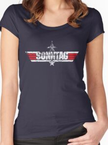 Custom Top Gun Style - Sonntag Women's Fitted Scoop T-Shirt