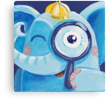 Look - curious Rondy the Elephant Canvas Print
