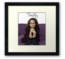 Tina Fey photo + Signature Framed Print