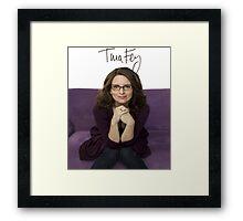 Tina Fey photo + Signature Framed Print