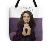 Tina Fey photo + Signature Tote Bag