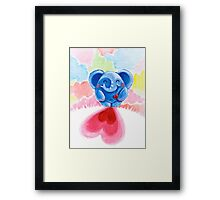Me And My Heart - Rondy the Elephant In Love Framed Print