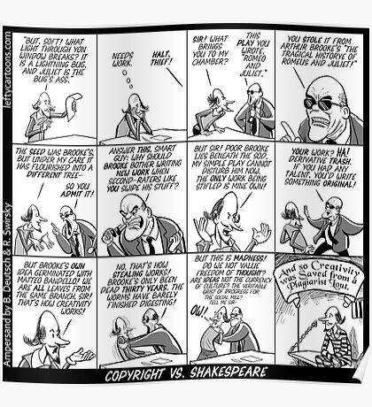 Copyright vs Shakespeare Poster